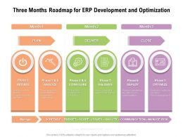 Three Months Roadmap For ERP Development And Optimization