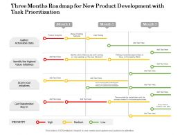 Three Months Roadmap For New Product Development With Task Prioritization