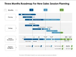 Three Months Roadmap For New Sales Session Planning