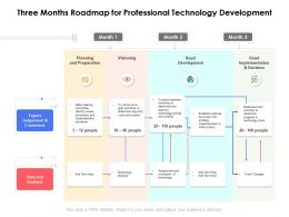 Three Months Roadmap For Professional Technology Development