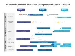Three Months Roadmap For Website Development With System Evaluation