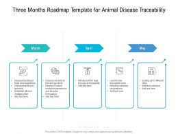 Three Months Roadmap Template For Animal Disease Traceability