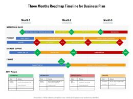 Three Months Roadmap Timeline For Business Plan