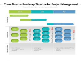 Three Months Roadmap Timeline For Project Management
