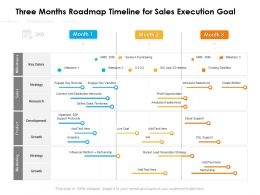 Three Months Roadmap Timeline For Sales Execution Goal