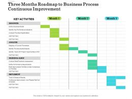 Three Months Roadmap To Business Process Continuous Improvement