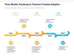 Three Months Roadmap To Financial Freedom Adoption