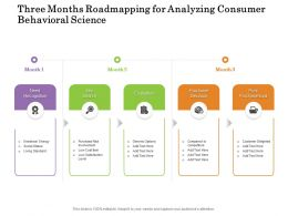 Three Months Roadmapping For Analyzing Consumer Behavioral Science