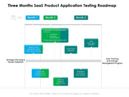 Three Months SaaS Product Application Testing Roadmap