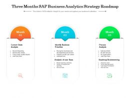 Three Months SAP Business Analytics Strategy Roadmap