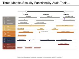 Three Months Security Functionality Audit Tools Development Timeline