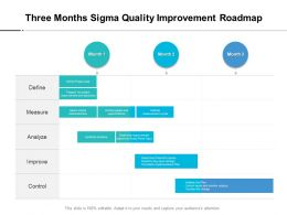 Three Months Sigma Quality Improvement Roadmap