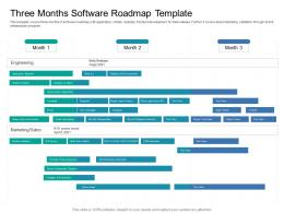 Three Months Software Roadmap Timeline Powerpoint Template