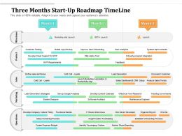 Three Months Start Up Roadmap Timeline