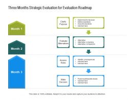 Three Months Strategic Evaluation For Evaluation Roadmap