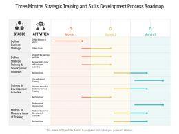 Three Months Strategic Training And Skills Development Process Roadmap