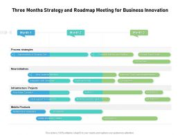 Three Months Strategy And Roadmap Meeting For Business Innovation
