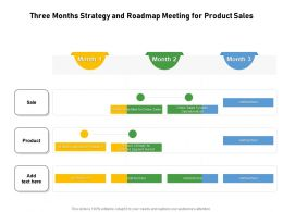 Three Months Strategy And Roadmap Meeting For Product Sales