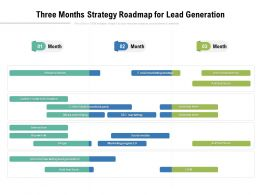 Three Months Strategy Roadmap For Lead Generation