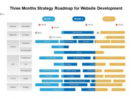 Three Months Strategy Roadmap For Website Development