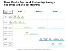 Three Months Teamwork Partnership Strategy Roadmap With Project Planning