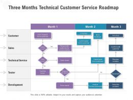 Three Months Technical Customer Service Roadmap