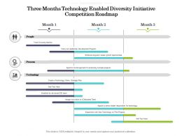 Three Months Technology Enabled Diversity Initiative Competition Roadmap