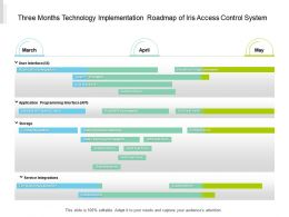 Three Months Technology Implementation Roadmap Of Iris Access Control System