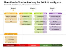 Three Months Timeline Roadmap For Artificial Intelligence