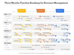 Three Months Timeline Roadmap For Business Management