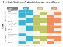 Three Months Virtual Assistant Roadmap For Building Conversational AI Platforms