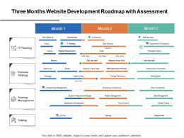 Three Months Website Development Roadmap With Assessment