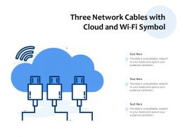 Three Network Cables With Cloud And WIFI Symbol