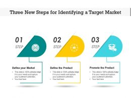 Three New Steps For Identifying A Target Market
