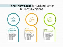Three New Steps For Making Better Business Decisions