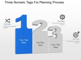 Three Numeric Tags For Planning Process Powerpoint Template Slide