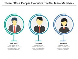 Three Office People Executive Profile Team Members