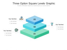 Three Option Square Levels Graphic