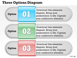 Three Options Diagram Powerpoint Template Slide