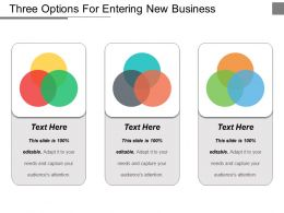 Three Options For Entering New Business Ppt Example File