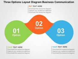 Three Options Layout Diagram Business Communication Flat Powerpoint Design