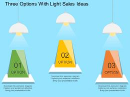 Three Options With Light Sales Ideas Flat Powerpoint Design