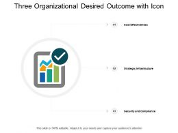 Three Organizational Desired Outcome With Icon