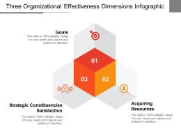 Three Organizational Effectiveness Dimensions Infographic Ppt Slide