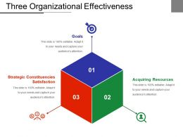 Three Organizational Effectiveness Powerpoint Slide Show