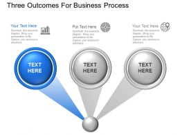 Three Outcomes For Business Process Powerpoint Template Slide