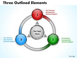 Three Outlined flow Elements 8