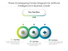 Three Overlapping Circles Diagram For Artificial Intelligence In Business Credit Infographic Template