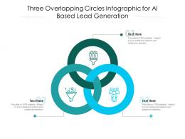 Three Overlapping Circles For AI Based Lead Generation Infographic Template