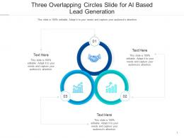 Three Overlapping Circles Slide For AI Based Lead Generation Infographic Template